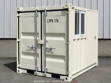 8' Shipping Storage Container Guard Yard Shack Booth w/Door Window bidadoo -New