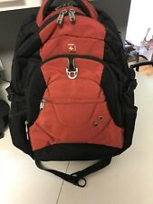 Swiss Army Gear Airflow Backpack Laptop Travel Black/ Brick Red