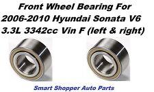 2 Front Wheel Bearing Fit For 2006 2007 2008 2009 - 2010 Hyundai Sonata V6 3.3L