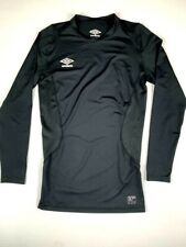 Mens UMBRO 37 Degree Base Layer Compression Shirt Long Sleeve Sixe YXL  Black