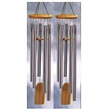 2 Lot Chimes Natural Pine Resonant Wind Chime Garden Decor