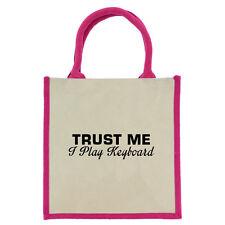 Trust Me I Play Tastiera Rosa Con manici Midi Sacchetto Di Iuta borsa shopping