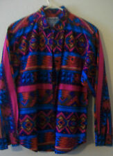 WOMEN'S WRANGLER VINTAGE BLOUSE, SOUTHWESTERN DESIGN, SIZE MEDIUM, MULTICOLORED