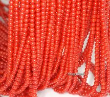 4MM RED CORAL GEMSTONE GRADE A RED ROUND 4MM LOOSE BEADS 16""