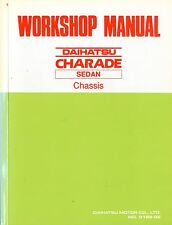 1989 DAIHATSU CHARADE SEDAN CHASSIS WORKSHOP MANUAL HANDBOOK WERKSTATTHANDBUCH