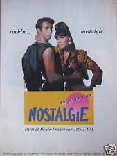 PUBLICITÉ RADIO ROCK'N... NOSTALGIE PARIS ET ILE-DE-FRANCE SUR 105.1 FM