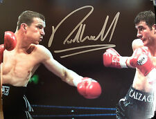 RICHIE WOODHALL - FORMER WORLD CHAMP - EXCELLENT SIGNED COLOUR PHOTOGRAPH