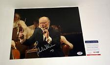 JOHN WILLIAMS STAR WARS SIGNED AUTOGRAPH 11X14 PHOTO PSA/DNA COA #S79054