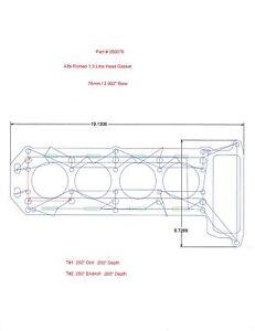 Alfa Romeo 1.3L copper head gasket 76mm bore