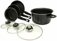 Leisurewize Lightweight Steel Camping,Home & Caravan 7 Pce Cookware Pan Set -170