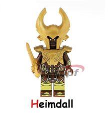 Heimdall Minifigure - Marvel Thor Figure Super Hero for Custom Lego Minifigures