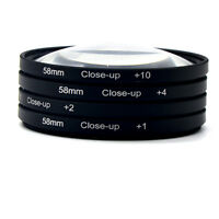 4* 58mm Macro Close-Up Filter Set(+1 +2 +4 +10) Support for Canon Digital SLR
