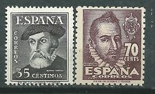 ESPAÑA SPAIN  Edifil # 1035/1036 ** MNH Hernan Cortes y Mateo Aleman