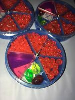 990 Ast ROUND FLUORESCENT RED FISHING BEADS 8, 6, 5, & 4mm SALTWATER RIG 100+
