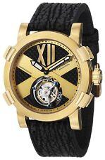 Stuhrling 407 333X31 Men's Tourbillon Mechanical Hand Wind SS & Black Watch