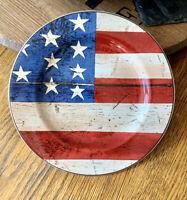 "8 1//8/"" of 4 s Excellent Sakura SPIRIT OF THE FLAG Salad plate set"