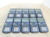 LOT of 10 Texas Instruments TI-83 Plus Graphing Calculators For PARTS/REPAIRS