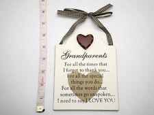 Grandparents Wall Plaque Christmas Stocking Filler Gift Ideas Her & Him, Parents