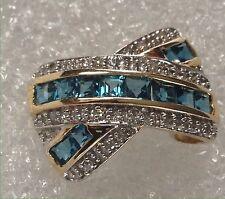 Brillantanhänger Damen Anhänger Gold 585 Diamanten + Topas