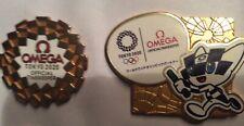 2 pcs Omega Tokyo 2020 Olympic pins