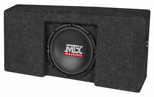 """Loaded 10"""" MTX Subwoofer+Sub Box Enclosure For 2009-15 Ford F-150 SuperCrew Cab"""