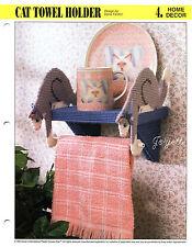 Cat Towel Holder & Shelf, Annie's plastic canvas pattern