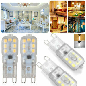 10X G9 3W LED Dimmable Capsule Light Bulb Replace Halogen Lamps AC220-240V White