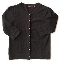 Women's 525 America Cotton Blend 3/4 Sleeve Cardigan Sweater-Sz S