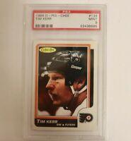 1986 OPC O-Pee-Chee #134 Philadelphia Flyers Tim Kerr PSA 9