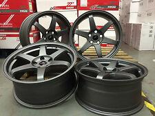 "18"" Alloy Wheels BMW 5x120 EURO DRIFT E36 E46 E90 E91 E92 E93 F10 F30 GUNMETAL"