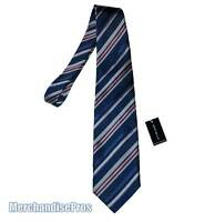 MEN'S ENZO BELLA 100% SILK BLUE STRIPED NECK TIE MADE IN ITALY  NEW WITH TAGS!