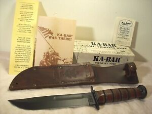1990~KABAR~U.S. ARMY~NEW & UNUSED~USN FIGHTING KNIFE w/ORIG. LEATHER SHEATH +BOX