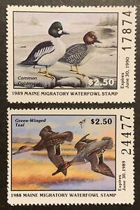 TDStamps: US Maine Duck Stamps (2) Mint NH OG