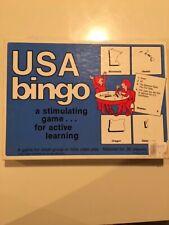VTG 1985 Trend Enterprises USA Bingo Game Teachers Version 36 Players