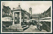 Verona Città Piazza Erbe Foto cartolina QT4353