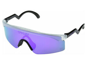 Oakley Razor Blades Heritage Sunglasses OO9140-13 Matte Clear/Violet Iridium