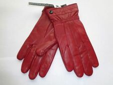 New Red Ladies 1 Button Leather Gloves Medium/Large Driving Winter Tight Fit Hot