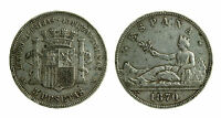 pcc1949_1) SPAGNA SPAIN  5 PESETAS 1870