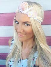 Pink Sea Shell Mermaid Crown Flower Diamond Jewel Head Band Choochie Hippy Boho