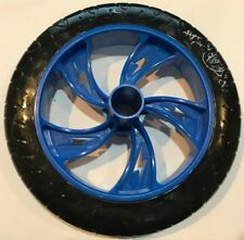 """Replacement 8"""" Wheel for the Razor Scooter, Black Wheel Blue Hub"""