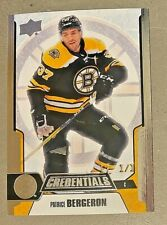 2019-20 Credentials - FAN FAVS 1/1 Gold Foil Stamped - Patrice Bergeron - #42