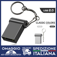 PENDRIVE  MINI USB 2.0 CAR USB 32GB 64GB CHIAVETTA PENNA FLASH PICCOLA METALLO