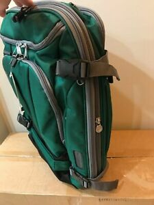 "NEW TLS Mother Lode Weekender 22"" Convertible Backpack Emerald Green Ebags"