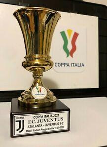 "JUVENTUS MINIATURA ""COPPA ITALIA 2021"" RESINA GALVANICA ORO/ARGENTO"