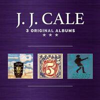 J.J. CALE - 3 ORIGINAL ALBUMS BOXSET 3 CD NEW