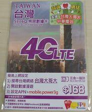 Happy Telecom開心電訊 臺灣5日4G無限數據卡Taiwan 5-Days Unlimited Data Sim,免wifi蛋,無須登記,即買即用