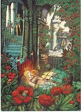 Hans Arnold Fairy Tale Postcard Sleeping Beauty Flower Elves Prince Sweden