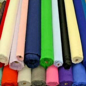 12 Colours Plain Winceyette Soft Flannelette 100% Cotton Brushed Dress Fabric