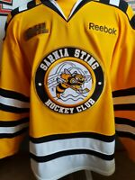 SARNIA STING GAME ISSUED THIRD JERSEY CHL OHL COA
