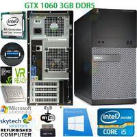 VR Ready Cheap GAMING PC i5 QUAD 2TB HDD & SSD 16GB DDR3 GTX 1060 3GB DDR5 WIFI